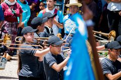 197年的庆祝从危地马拉的独立 免版税库存照片