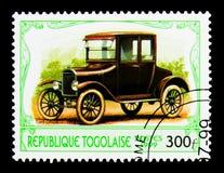1923年福特式样T,古董汽车serie,大约1999年 库存照片