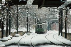 1996年绿线火车的图象在牛顿,大量 库存图片