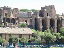 19 06 2017年罗马,意大利,欧洲:废墟临近马戏maximus, Ther 免版税库存照片
