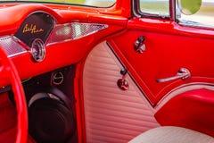 1955年薛佛列贝莱尔小轿车 免版税库存照片