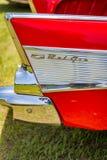 1957年薛佛列贝莱尔小轿车 库存图片