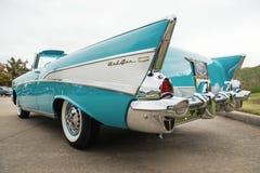 1957年薛佛列贝莱尔敞篷车经典汽车 免版税库存图片