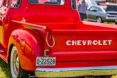 1950年薛佛列3100卡车 库存图片
