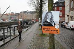 年轻丹麦人在地方理事会和县POLITICIS 免版税库存图片