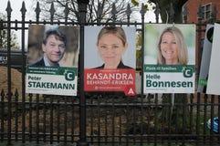 年轻丹麦人在地方理事会和县POLITICIS 库存图片