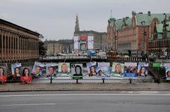 年轻丹麦人在地方理事会和县POLITICIS 免版税图库摄影