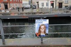 年轻丹麦人在地方理事会和县POLITICIS 库存照片