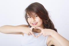 年轻亚洲女孩画象 免版税库存照片