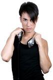 年轻人听的音乐 免版税库存照片