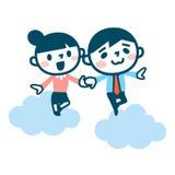 年轻人和妇女约会 向量例证