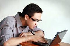 年轻人学习 免版税图库摄影