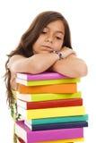 年轻人的儿童去的学校 免版税库存照片