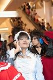 年轻塔玛琳参加在泰国Pagagon,曼谷前面的一个cosplay节日 库存照片