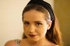 年轻女人画象  免版税图库摄影