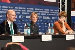 `年轻女人`在第68 Berlinale期间的新闻招待会 免版税库存照片