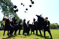 年轻毕业 登记概念教育查出的老 库存图片