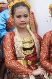 年轻泰国舞蹈家 免版税库存图片