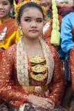 年轻泰国舞蹈家 库存照片