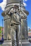 年轻炮兵南北战争纪念碑纽黑文康涅狄格 免版税库存图片