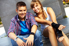 年轻的夫妇 免版税图库摄影