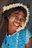 年轻缅甸女孩, Bagan,缅甸,亚洲 免版税库存照片