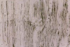 年迈的和破裂的轻的被绘的木纹理 免版税库存照片