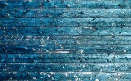 年迈的木用途纹理作为自然本底的 蓝色电 免版税库存图片