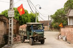 年迈的生锈的卡车在Duong潜逃 库存图片