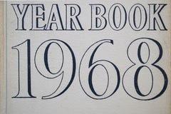 年鉴1968盖子 免版税图库摄影