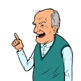 年长人微笑 免版税库存照片