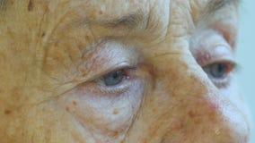年长人,妇女的面孔变老了81年 股票视频