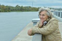 年长妇女身分 图库摄影