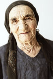 年长微笑的妇女 免版税图库摄影