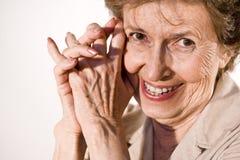 年长愉快的妇女 免版税图库摄影