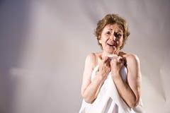 年长愉快的妇女 免版税库存照片