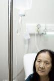 年长注入住院病人 免版税库存照片