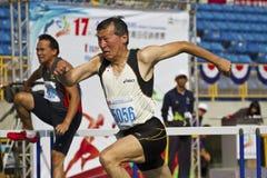 年长田径运动比赛 免版税库存照片