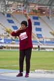年长田径运动比赛 图库摄影