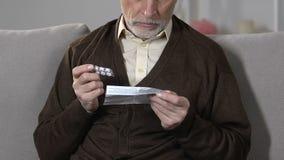 年长男性读的药片剂量,副作用和防备措施,药理 股票视频