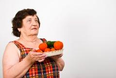 年长藏品蔬菜 免版税库存照片