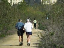 年长赛跑者 库存图片