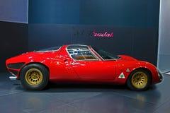 1967年阿尔法・罗密欧33 Stradale 库存照片