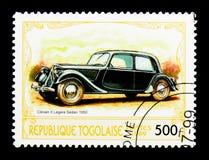 1950年雪铁龙II Legere轿车,古董汽车serie,大约 免版税库存照片