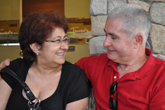年龄夫妇中间名 免版税图库摄影