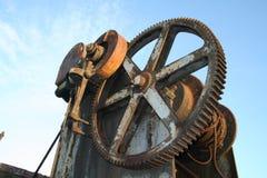 年龄用机器制造蒸汽 库存照片