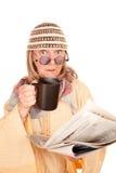 年龄疯狂的新的长袍妇女黄色 免版税图库摄影