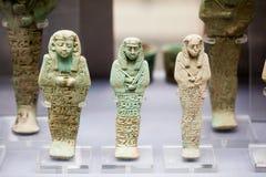 29 07 2015年,伦敦,大英博物馆-埃及雕象 免版税库存照片