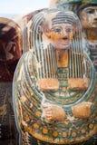 29 07 2015年,伦敦,英国,大英博物馆-埃及棺材 免版税库存照片