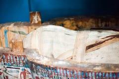 29 07 2015年,伦敦,英国,大英博物馆-埃及棺材 免版税库存图片